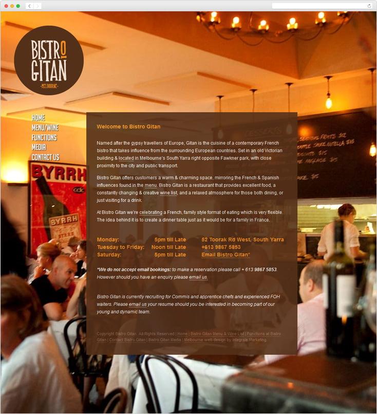 Bistro Gitan Restaurant by Integrale Marketing