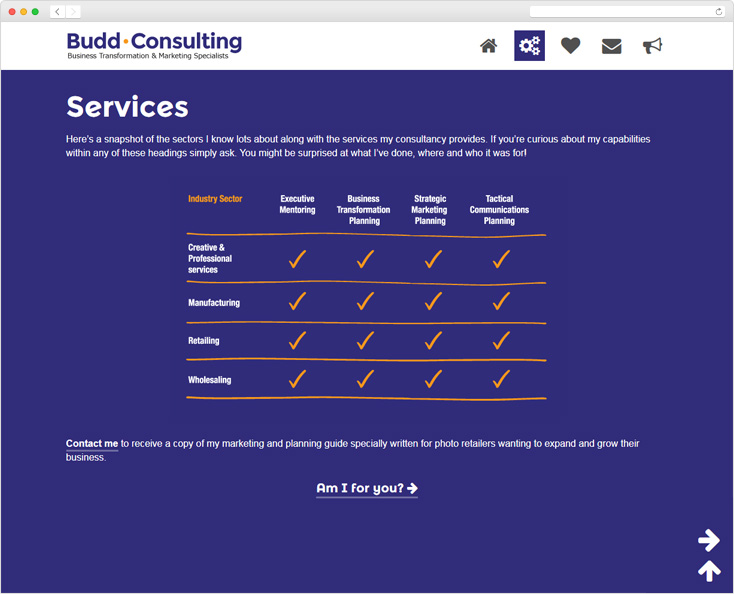 Budd Consulting website by Integrale Marketing
