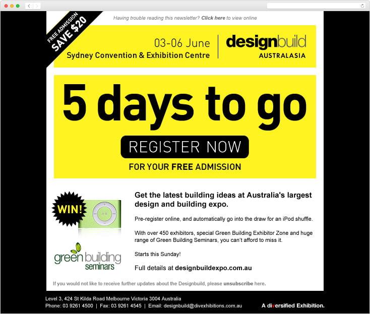 DesignBuild Expo eDM by Integrale Marketing