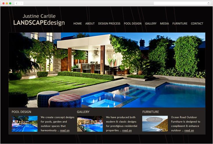 Justine Carlile LandscapeDesign website by Integrale Marketing