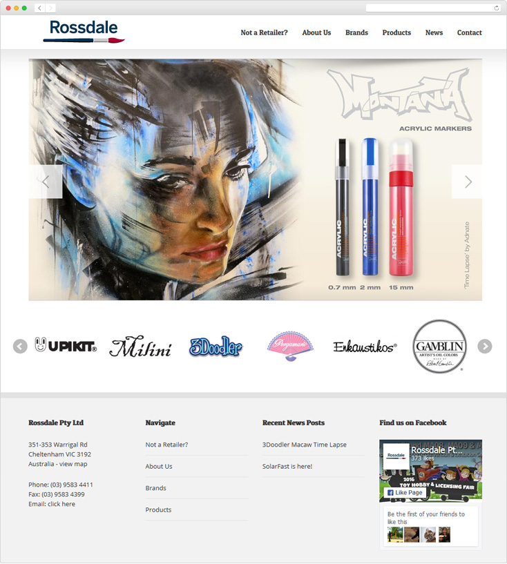 Rossdale Art Craft Website By Integrale Marketing