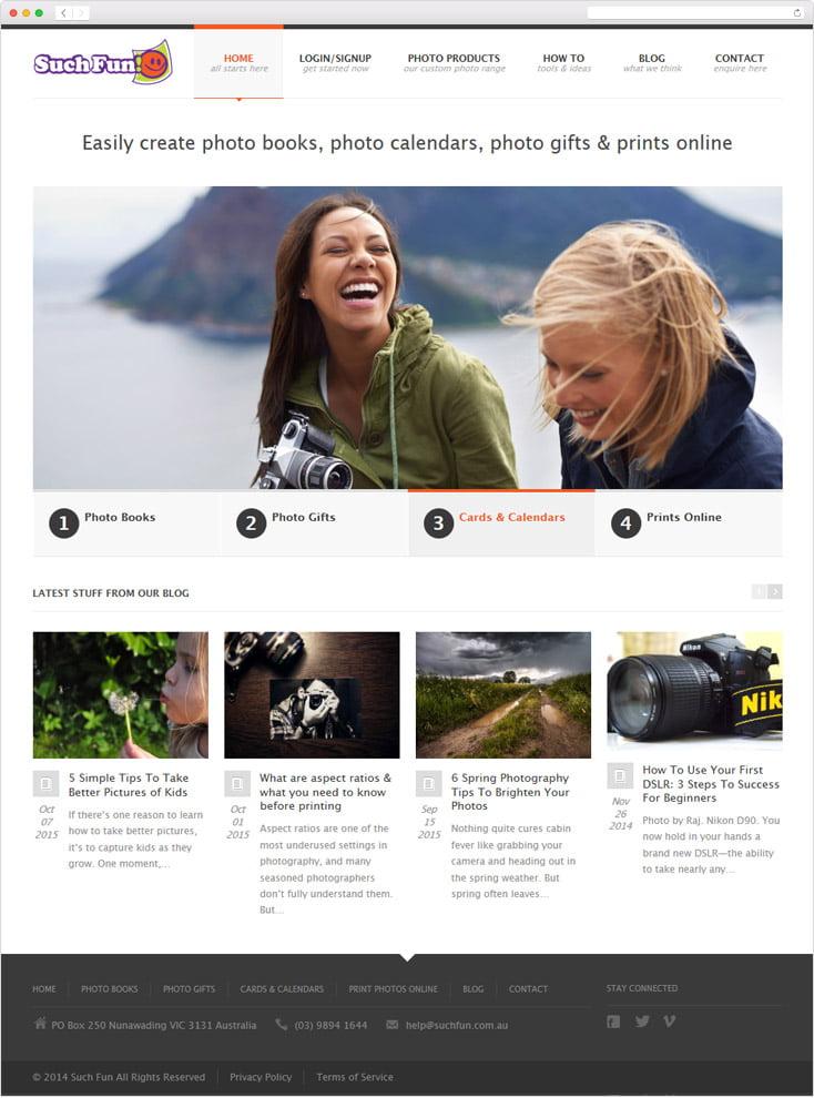 Such Fun website by Integrale Marketing