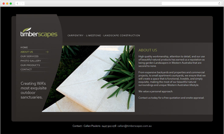 Timberscapes website by Integrale Marketing