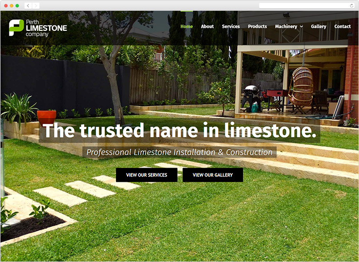 Perth Limestone Company Website by Integrale Marketing