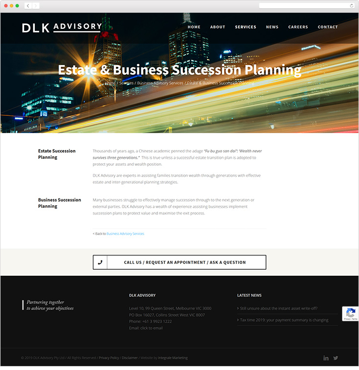 DLK Advisory Website