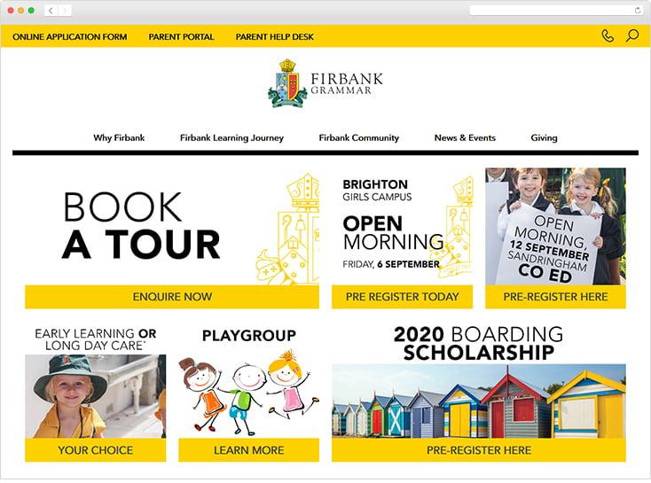 Firbank Grammar website by Integrale Marketing