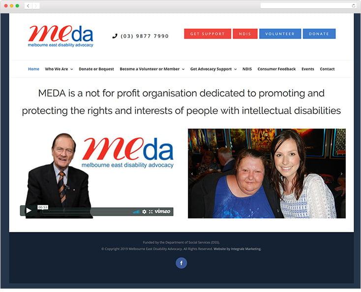 MEDA website by Integrale Marketing